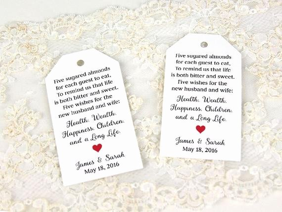 Wedding Favor Tags Template Unique Jordan Almonds Favor Tag Wedding Favor Tag Custom Tag