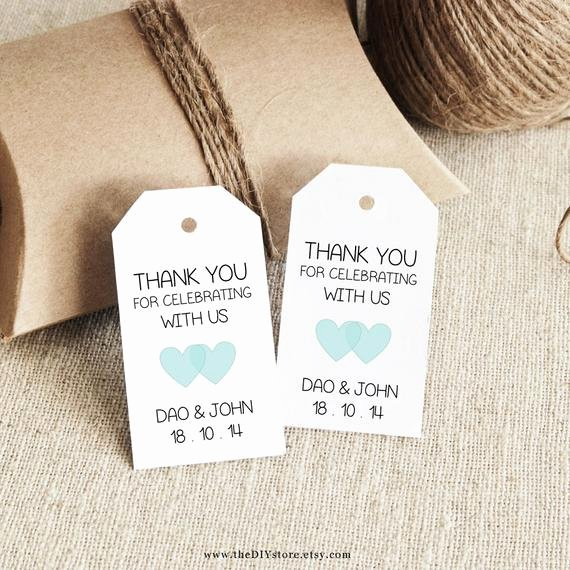 Wedding Favors Tags Template Elegant Favor Tag Template Printable Small Double Heart Design