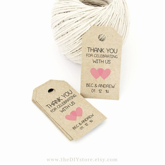 Wedding Favors Tags Template Fresh Favor Tag Template Printable Small Double Heart by thediystore