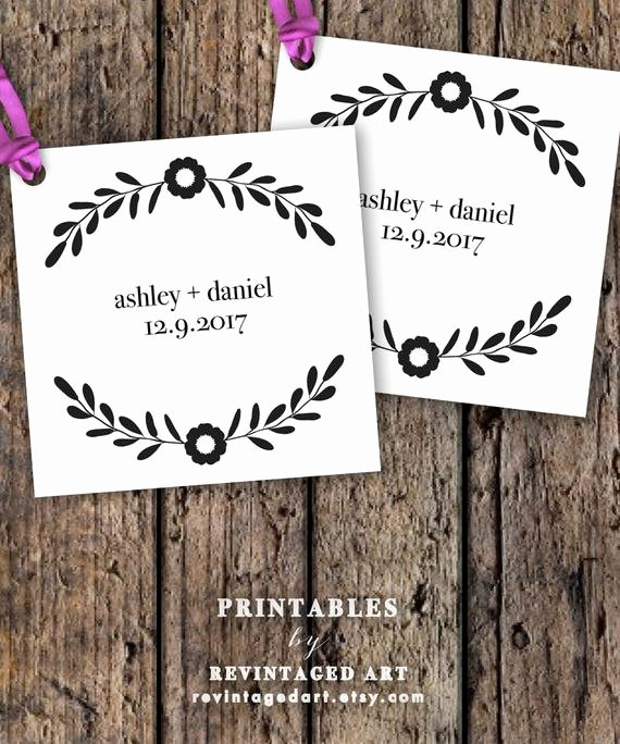 Wedding Favors Tags Template Fresh Printable Wedding Favor Tag Template Editable by