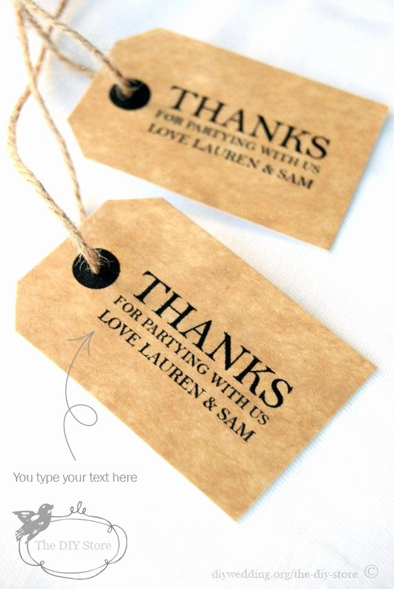 Wedding Favors Tags Template Luxury Gift Tag Diy Printable Text Editable Wedding Thank You