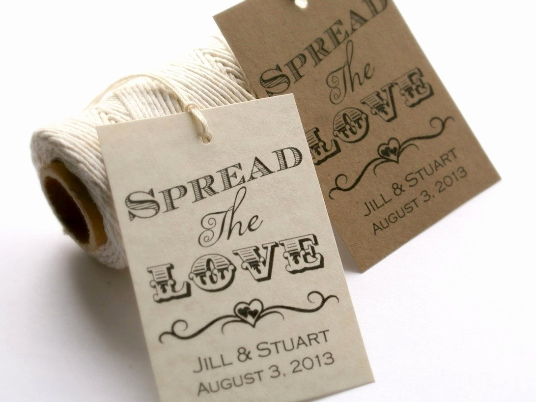 Wedding Favors Tags Template Unique Spread the Love Tag Editable Wedding Tag Template