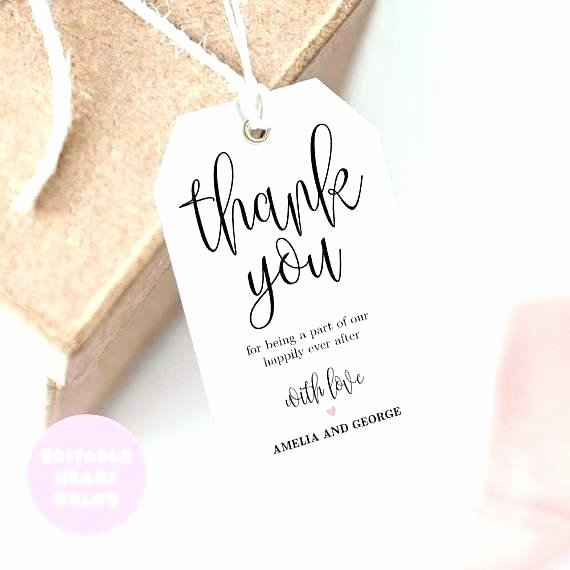 Wedding Favors Tags Template Unique Thank You Favor Tags Template Wedding Favour Labels