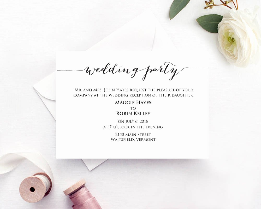 Wedding Information Card Template Best Of Wedding Party Invitation · Wedding Templates and Printables
