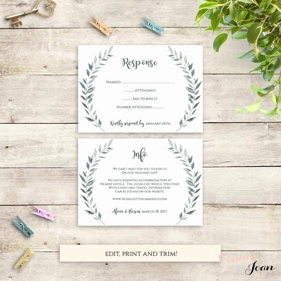 Wedding Information Card Template Best Of Wedding Rsvp and Information Card Templates Printable Rsvp and