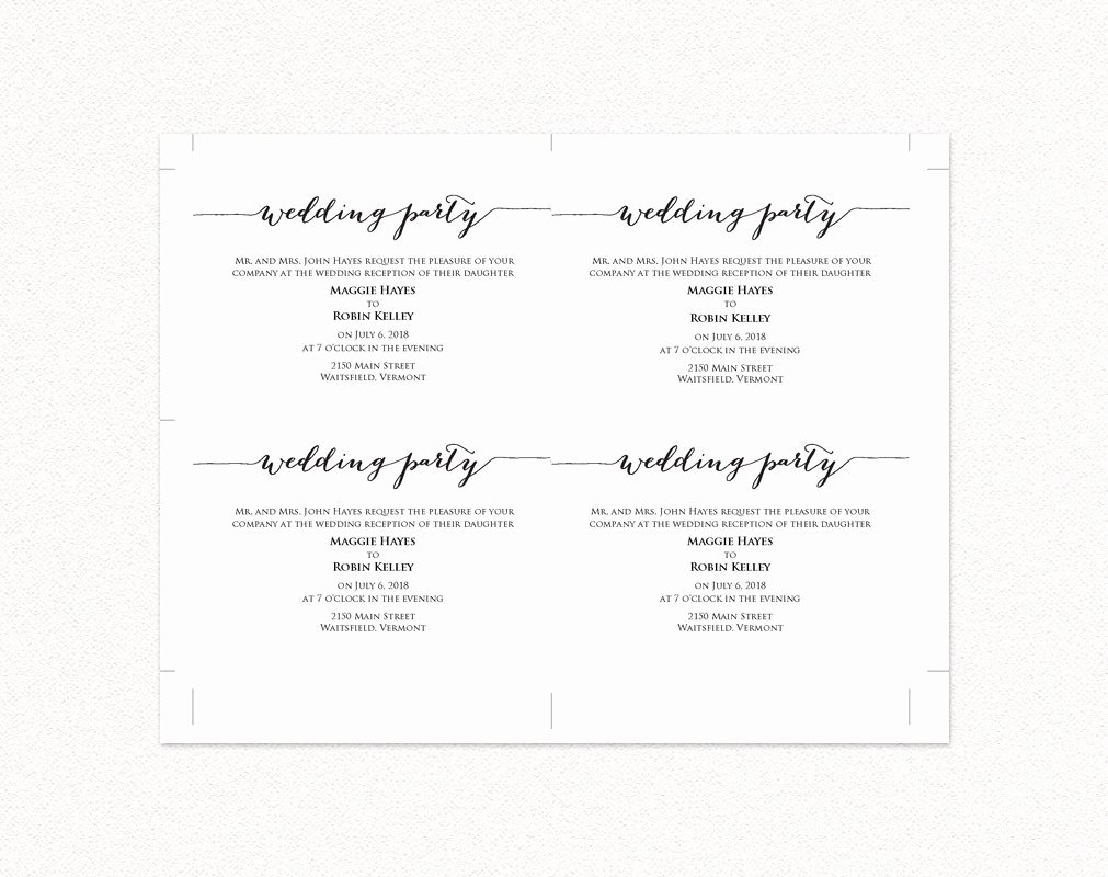 Wedding Information Card Template Inspirational Wedding Party Invitation · Wedding Templates and Printables