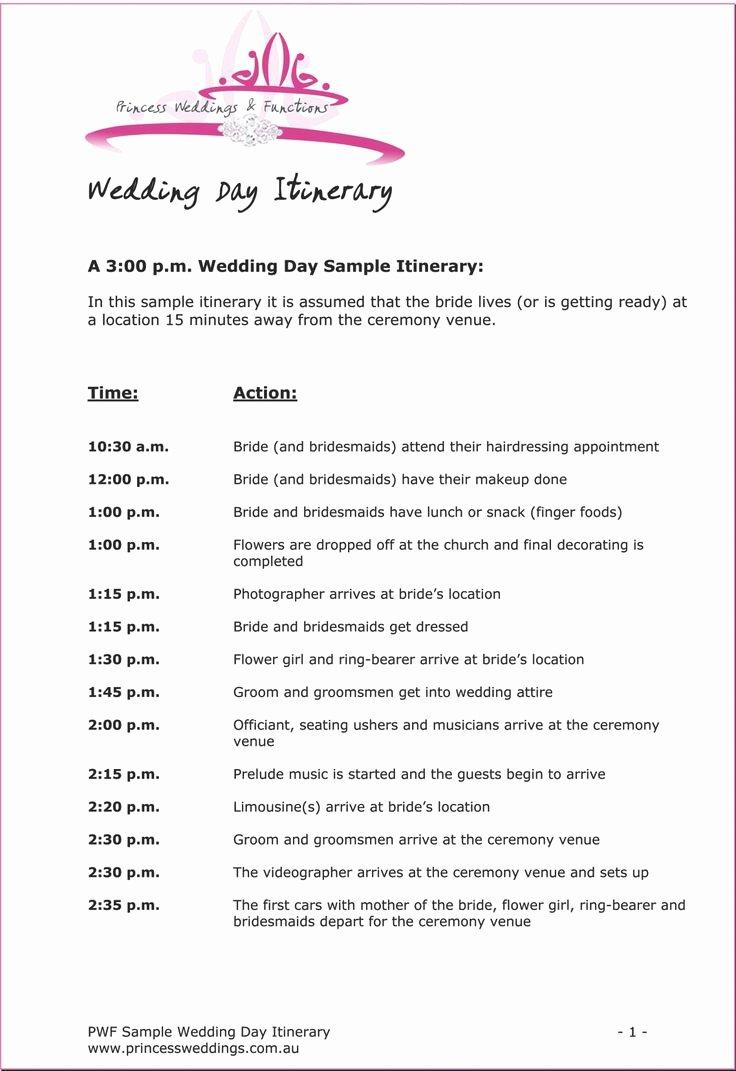 Wedding Itinerary Template Free Beautiful Birthday Itinerary Template Mughals