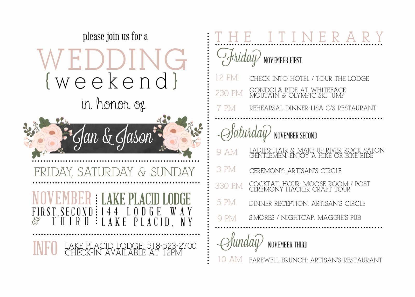 Wedding Itinerary Template Free New Template Wedding Itinerary Template