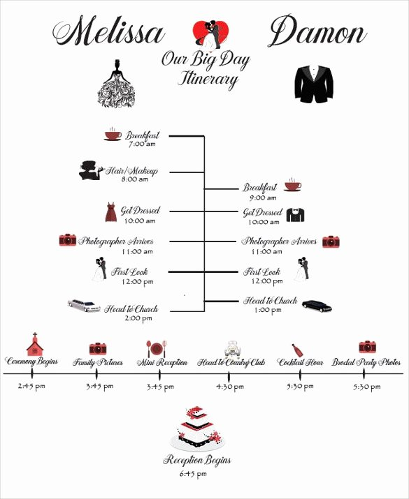 Wedding Itinerary Template Free Unique 28 Wedding Schedule Templates & Samples Doc Pdf Psd