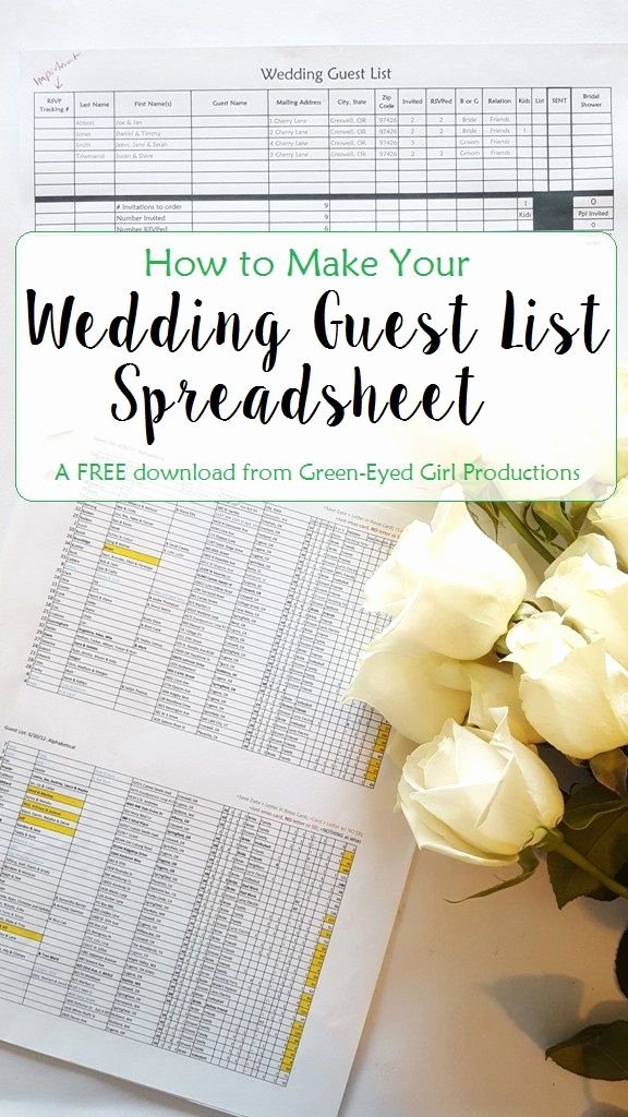 Wedding List Excel Template Beautiful How to Make Your Wedding Guest List Spreadsheet Free