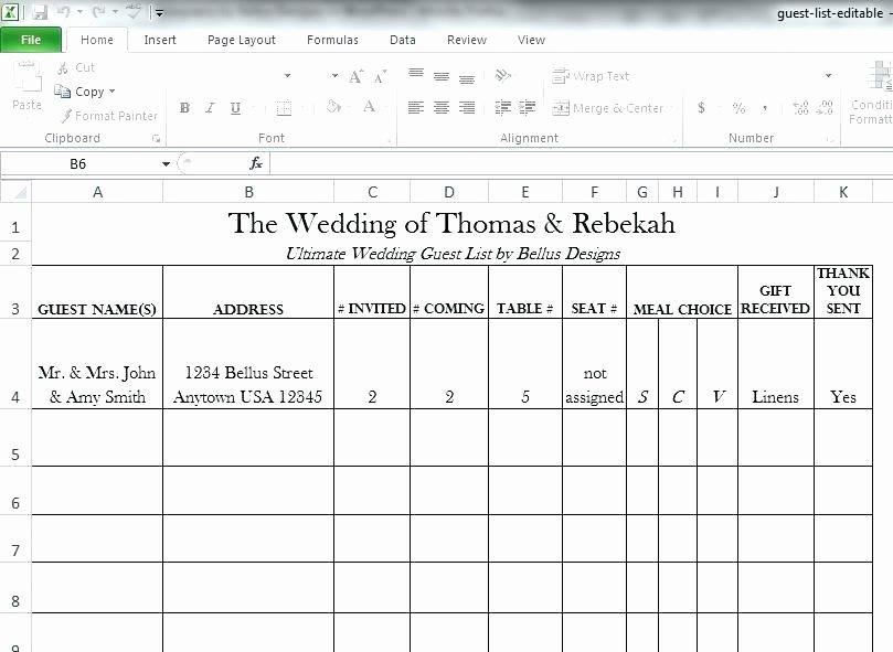 Wedding List Excel Template Elegant Wedding Planner Excel Free Printable Bud Checklist