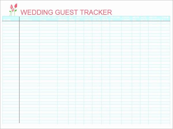 Wedding List Excel Template Luxury 17 Wedding Guest List Templates – Pdf Word Excel