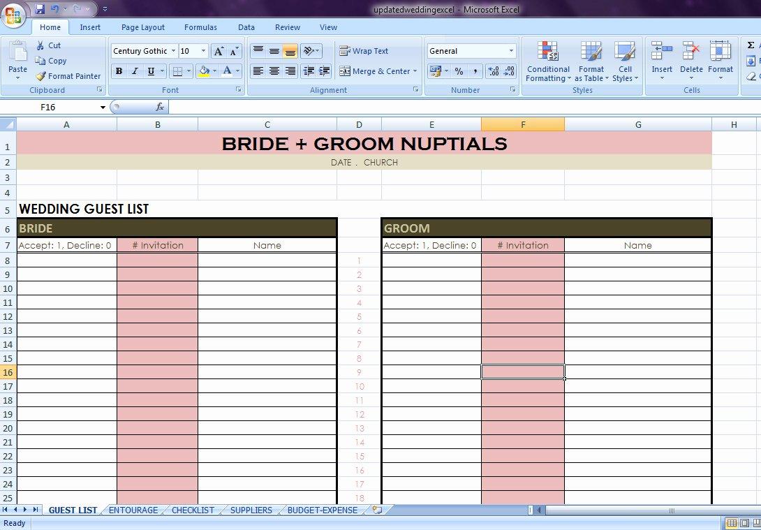 Wedding List Excel Template New Wedding Planning Checklist Excel Spreadsheet – Spreadsheet