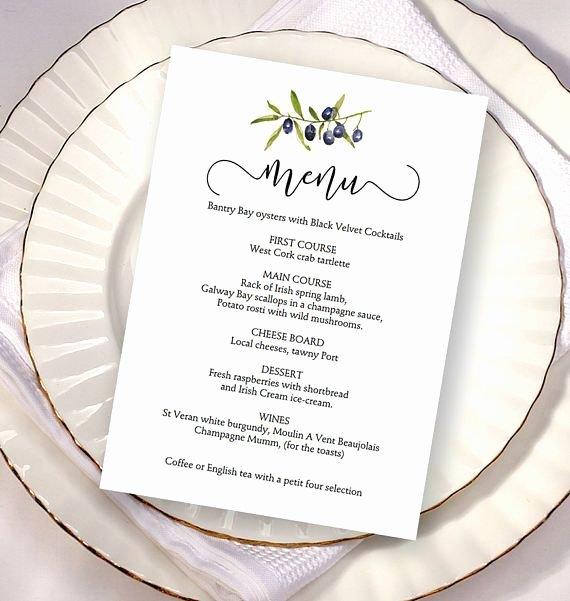 Wedding Menu Card Template Elegant 17 Best Ideas About Wedding Menu Cards On Pinterest