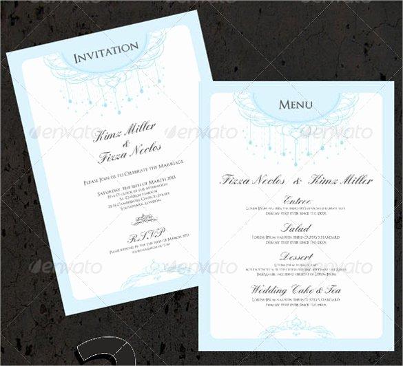 Wedding Menu Card Template Lovely 47 Menu Card Templates Ai Psd Docs Pages