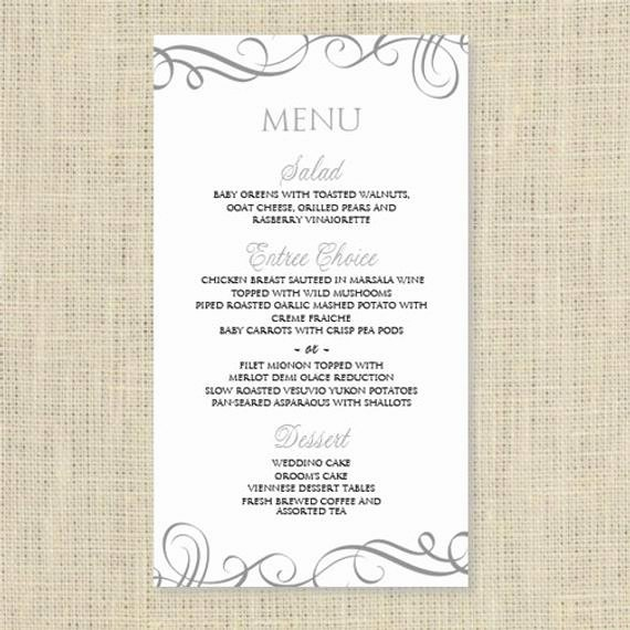 Wedding Menu Card Template Luxury Wedding Menu Card Template Download by Diyweddingtemplates