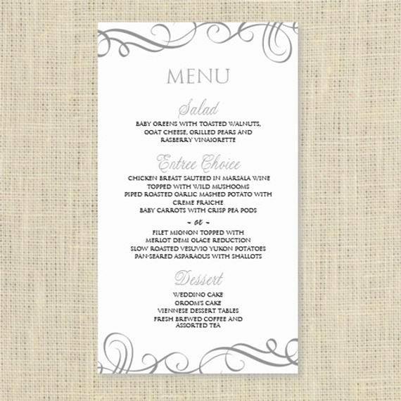 Wedding Menu Card Template Luxury Wedding Menu Card Template Download by Diyweddingtemplates