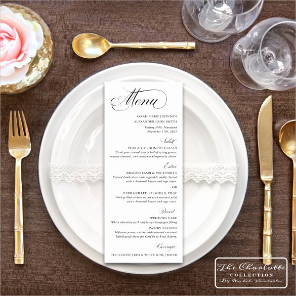 Wedding Menu Cards Template Beautiful 47 Menu Card Templates Ai Psd Docs Pages