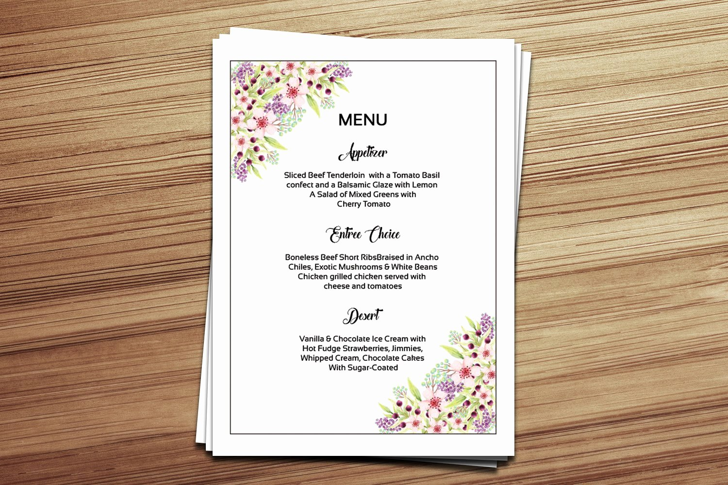 Wedding Menu Cards Template Best Of 15 Wedding Menu Card Designs