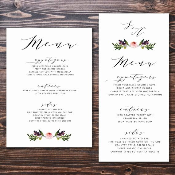 Wedding Menu Cards Template Elegant 25 Best Ideas About Wedding Menu Cards On Pinterest