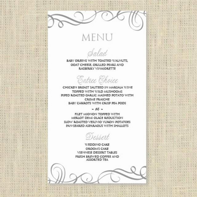 Wedding Menu Cards Template Luxury Wedding Menu Card Template Download Instantly Edit