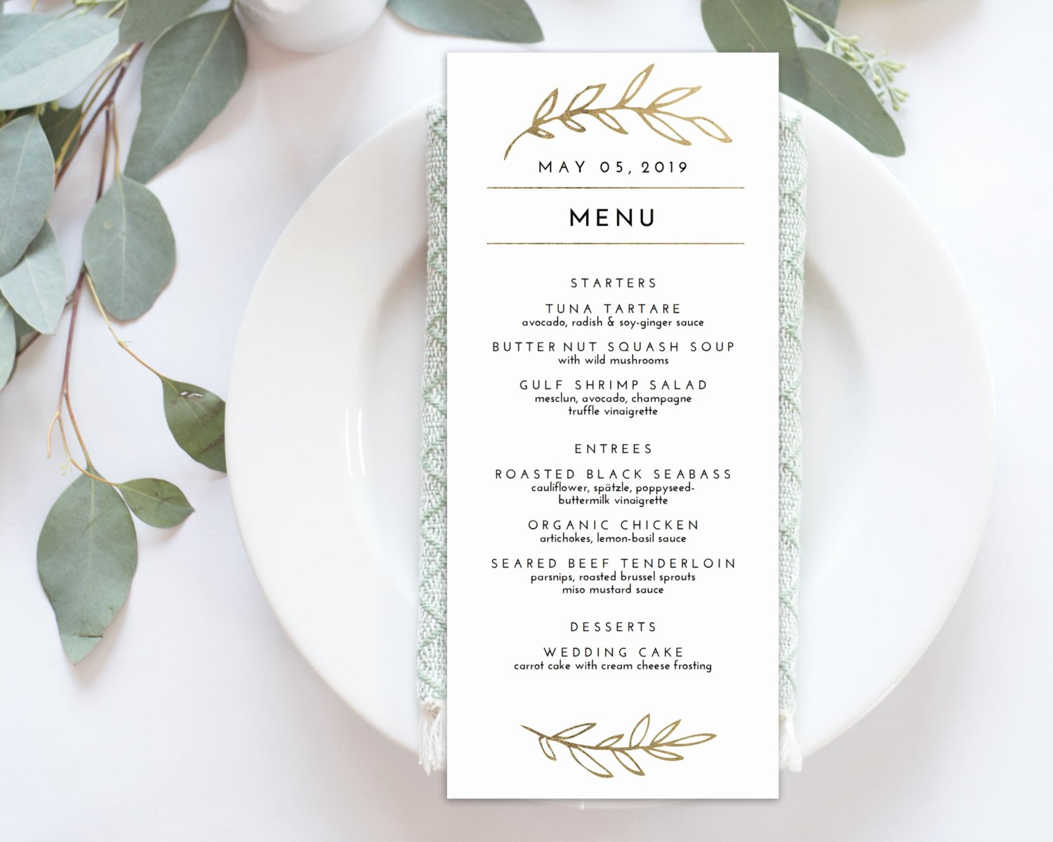 Wedding Menu Cards Template Luxury Wedding Menu Printable Menu Editale Template Menu