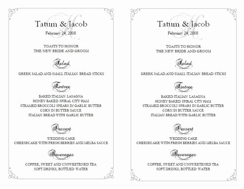 Wedding Menu Template Free Best Of 25 Best Ideas About Free Menu Templates On Pinterest