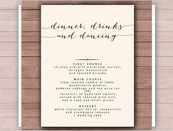 Wedding Menu Template Free Elegant Dinner Menu Templates – 36 Free Word Pdf Psd Eps
