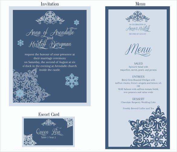Wedding Menu Template Free Fresh 37 Wedding Menu Template – Free Sample Example format