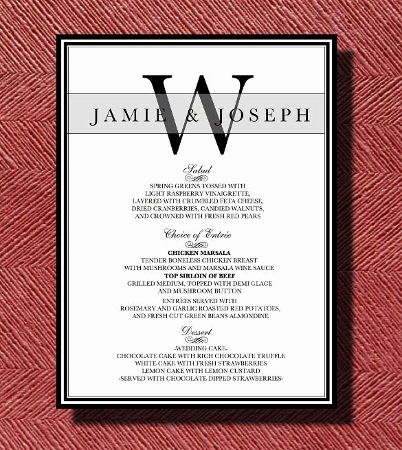Wedding Menu Template Word Fresh Dinner Menu Templates – 36 Free Word Pdf Psd Eps