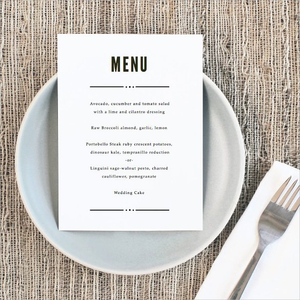 Wedding Menu Template Word Fresh Wedding Menu Template 31 Download In Pdf Psd Word