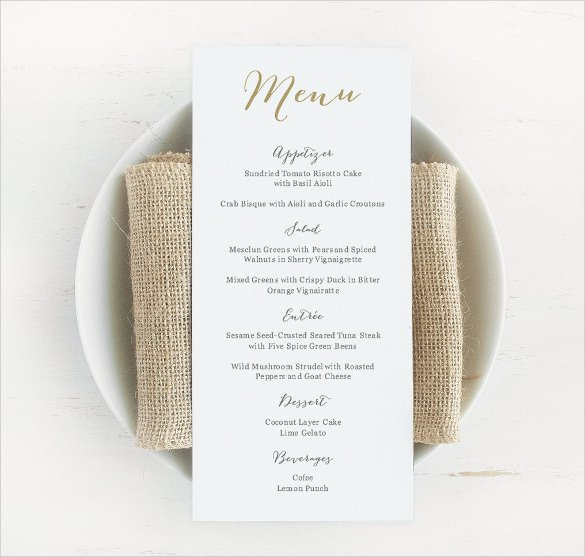 Wedding Menu Template Word New Wedding Menu Template 24 Download In Pdf Psd Word