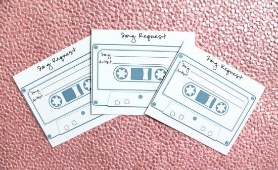 Wedding Music List Template New Diy Wedding song Request Cards Free Printable