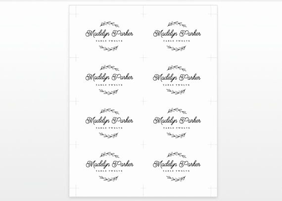 Wedding Name Card Template Awesome 25 Best Printable Wedding Place Cards Ideas On Pinterest