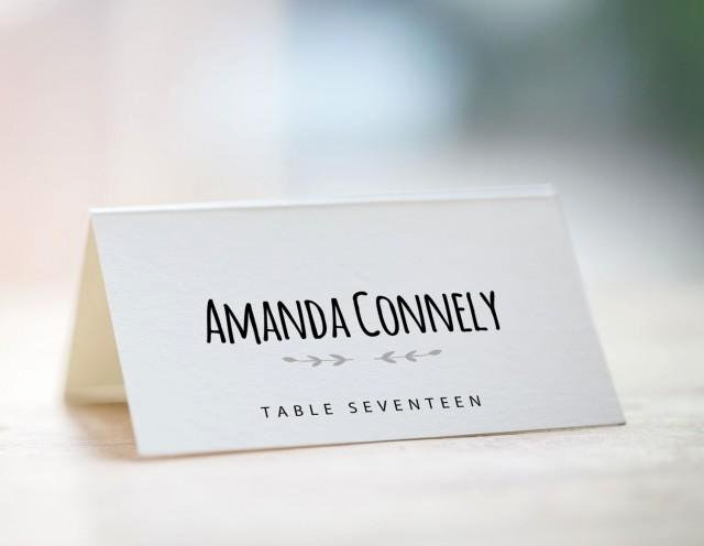 Wedding Name Card Template Awesome Printable Place Card Template Wedding Place Card Template