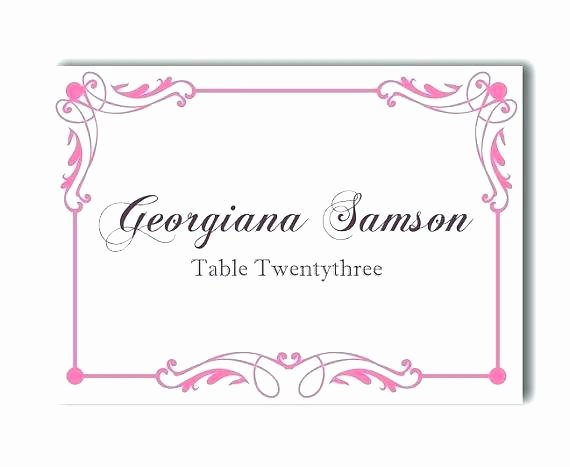 Wedding Name Card Template Beautiful Name Card Template Free Sample Example format Download