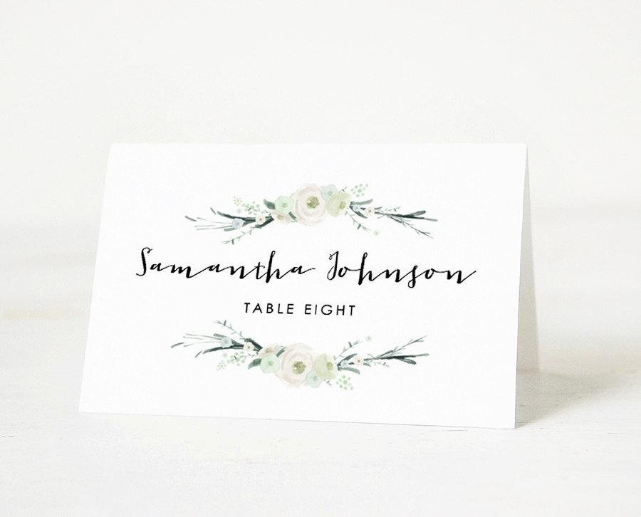 Wedding Name Card Template Beautiful Printable Place Card Template Wedding Place Card Name