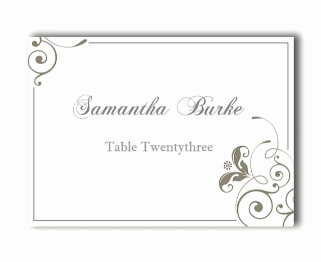 Wedding Name Card Template Elegant Place Cards Wedding Place Card Template Diy Editable