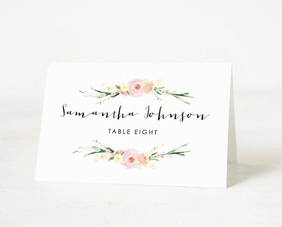 Wedding Name Card Template Elegant Printable Place Card Template Wedding Place Cards