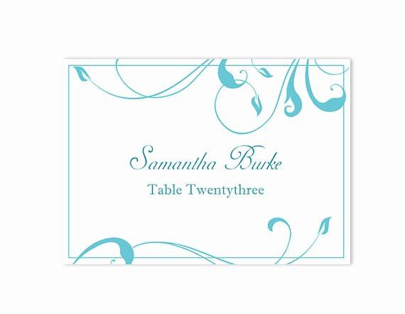 Wedding Name Card Template Inspirational Place Cards Wedding Place Card Template Diy Editable