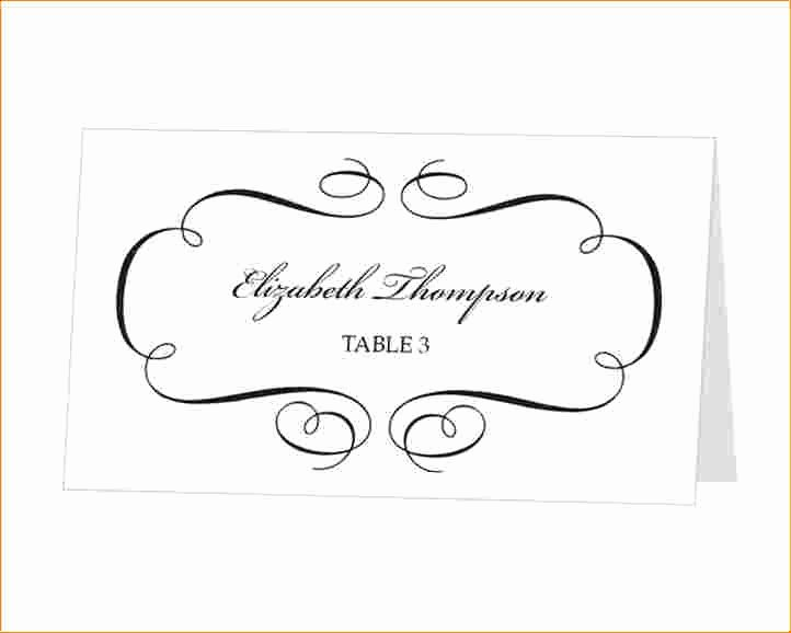 Wedding Name Card Template Lovely Place Cards Template Word Download Beautiful Template