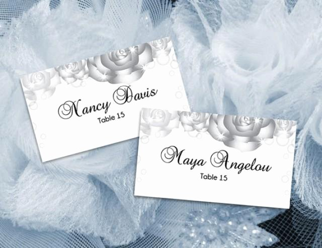 Wedding Name Card Template Luxury Diy Printable Wedding Place Name Card Template