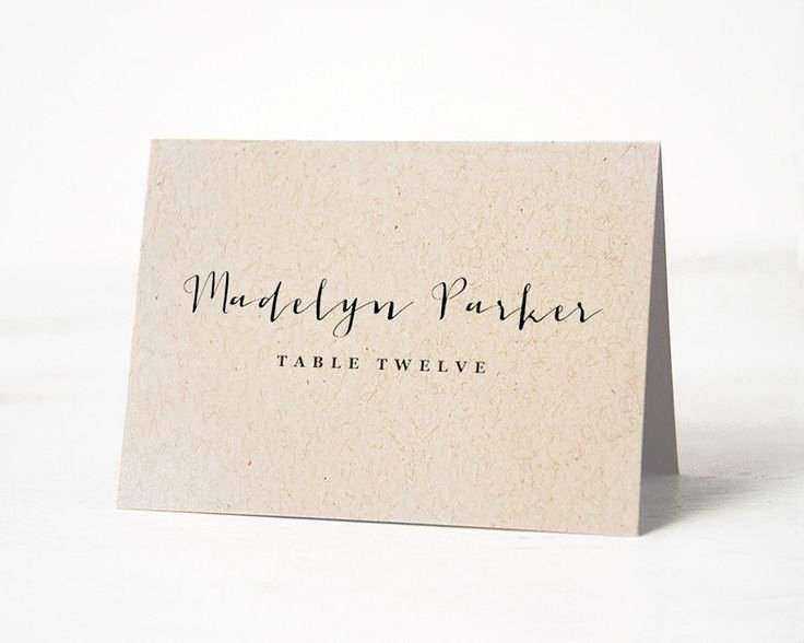 Wedding Name Card Template New the 25 Best Place Card Template Ideas On Pinterest