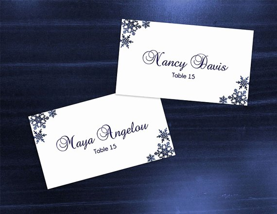 Wedding Name Cards Template Awesome Diy Printable Wedding Place Name Card Template