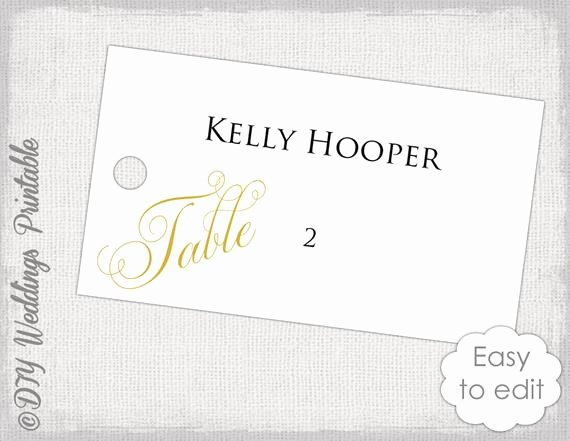 Wedding Name Cards Template Awesome Wedding Escort Card Template Gold Diy Wedding Place Card