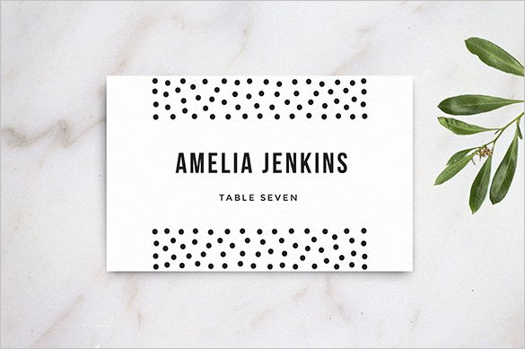 Wedding Name Cards Template Beautiful 25 Wedding Place Card Templates