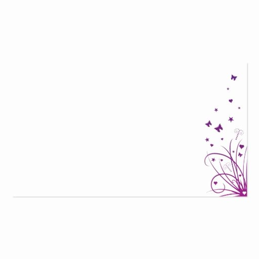Wedding Name Cards Template Fresh Wedding Place Name Card Purple & White Pack Standard