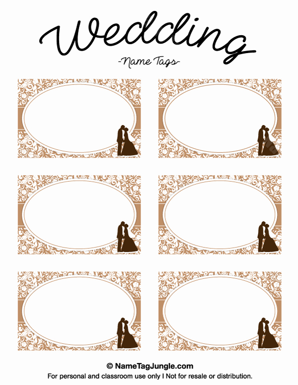 Wedding Name Cards Template Inspirational Free Printable Wedding Name Tags the Template Can Also Be