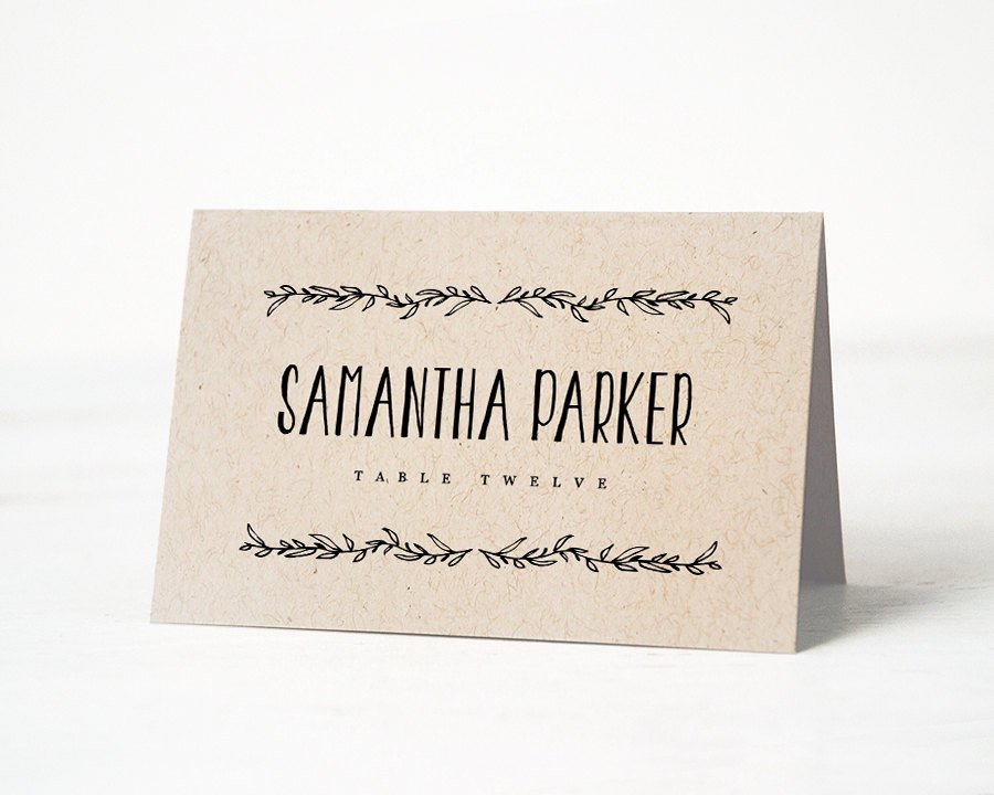 Wedding Name Cards Template Inspirational Printable Place Card Template Wedding Place Cards Editable