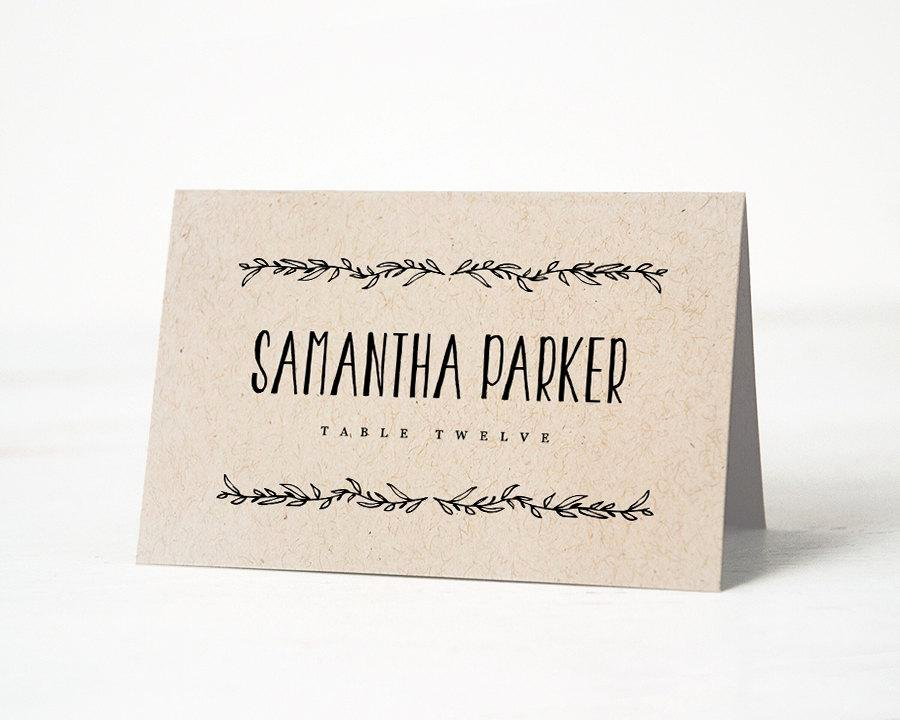 Wedding Name Cards Template Lovely Printable Place Card Template Wedding Place Cards